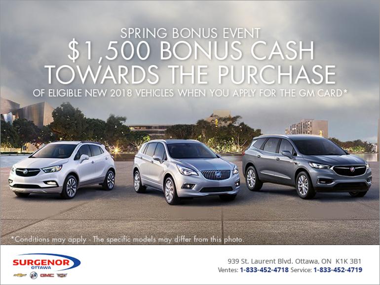 Spring Bonus Event