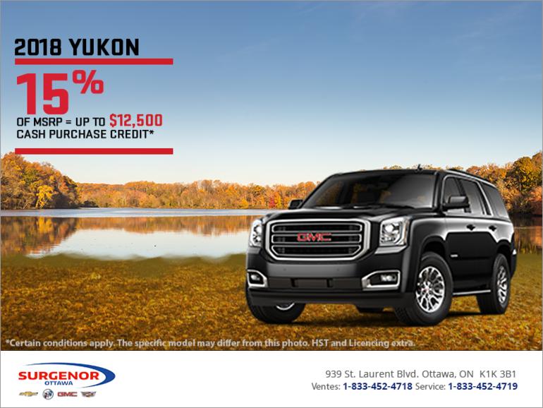 The 2018 GMC Yukon