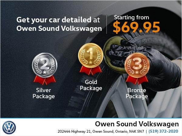 Get Your Car Detailed at Owen Sound Volkswagen