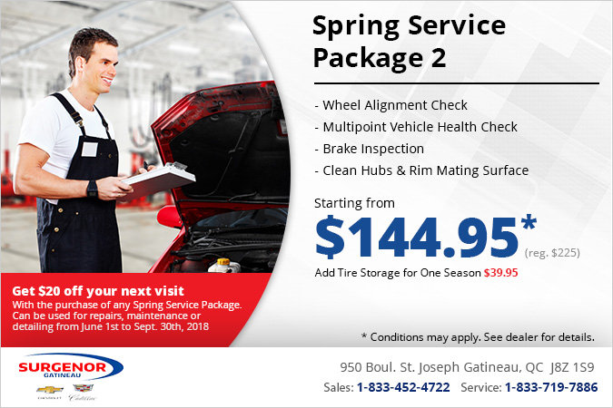 Get a Spring Service Package 2!