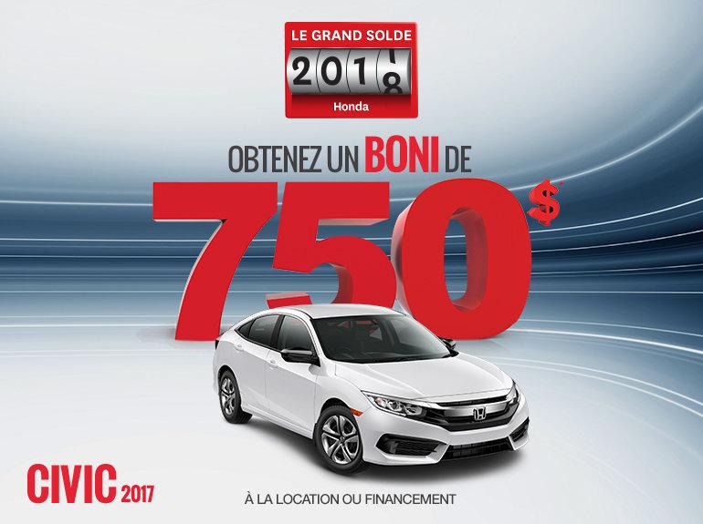 Louez la Honda Civic 2017 aujourd'hui!