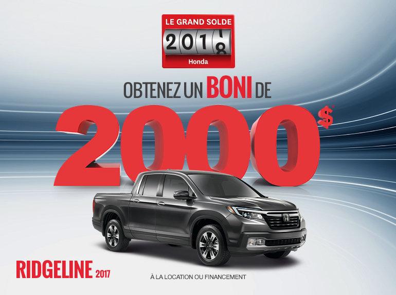 La Honda Ridgeline 2017