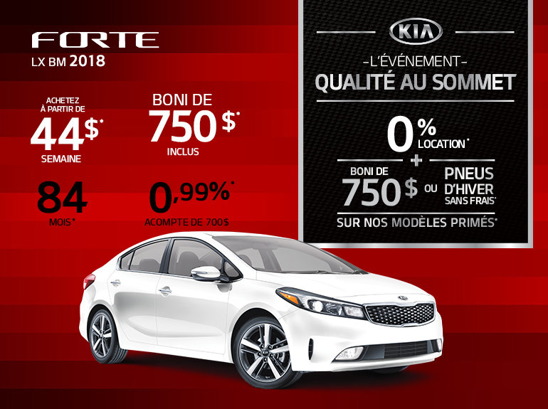 Obtenez la nouvelle Kia Forte 2018 aujourd'hui