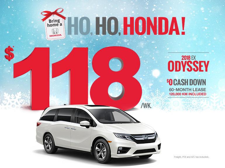 Bring home a Honda - Odyssey