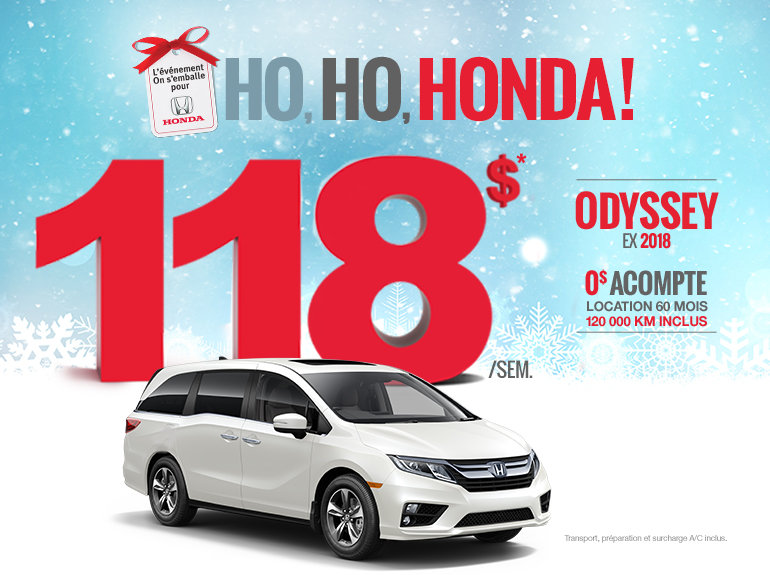 On s'emballe pour Honda - Odyssey