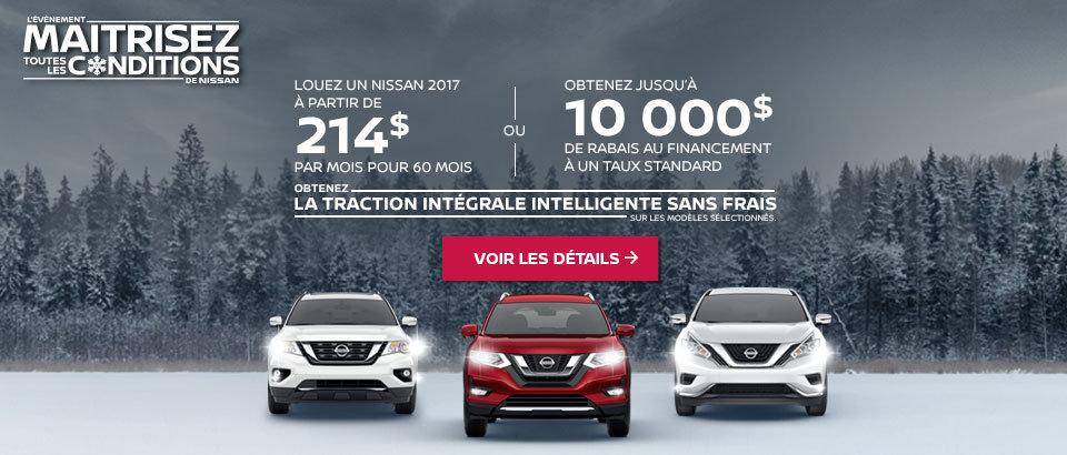 Événement  Maitrisez toutes les conditions de Nissan