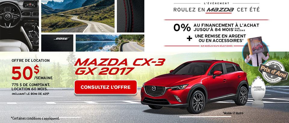 Événement Ventes Mazda Juillet-CX3