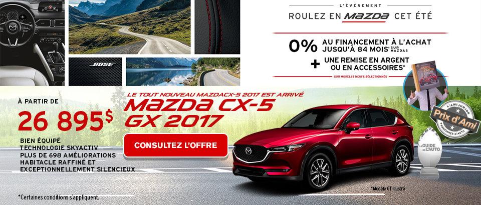 Événement Ventes Mazda Juillet-CX5