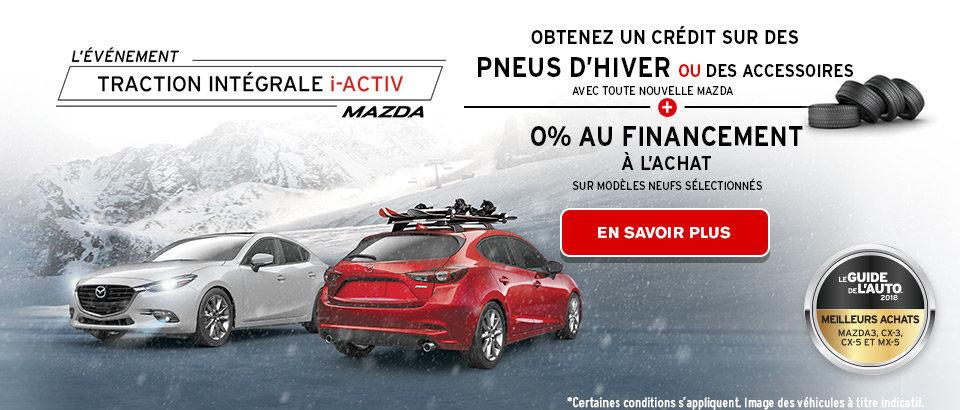 L'événement Traction intégrale i-ACTIV de Mazda