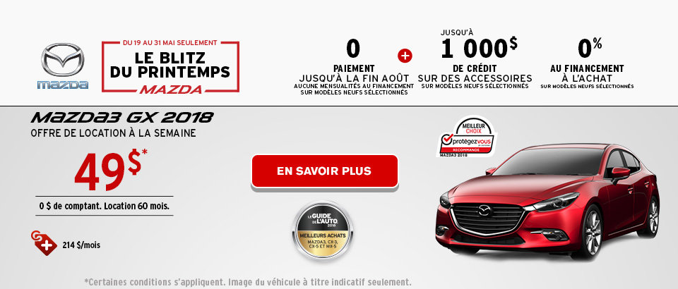 Blitz du Printemps Mazda - M3 Header - Desktop