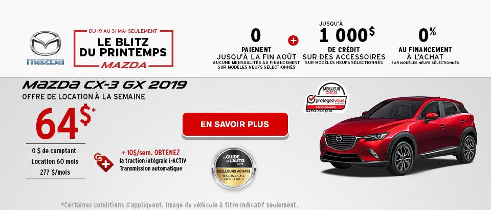 Blitz du Printemps Mazda - CX3 Header - Desktop